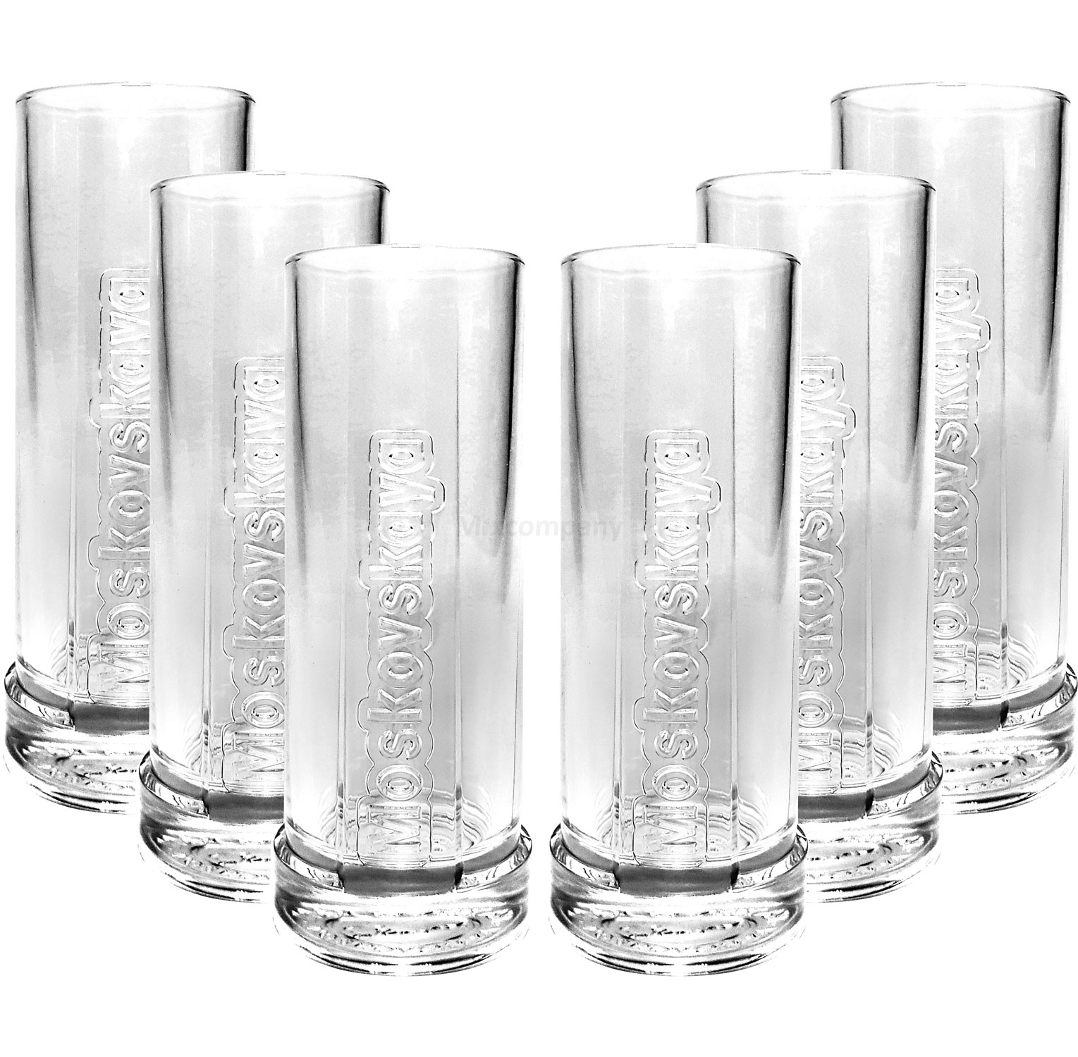 Moskovskaya Vodka Glas Gläser-Set - 6x Longdrink Gläser