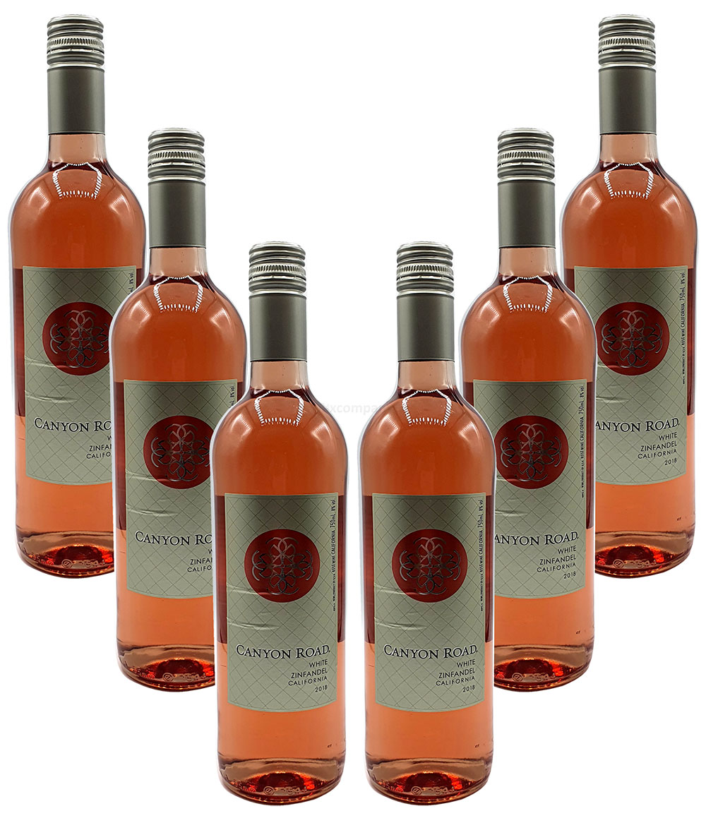 Rose Wein Set - 6x Canyon Road Zinfandel 750ml (8% Vol)- [Enthält Sulfite]