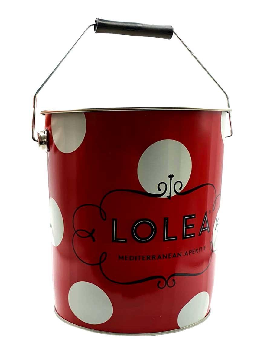 Lolea Sangria No1 Kühler Flaschenkühler mit Henkel Eiskühler mit Griff Getränkekühler in Rot