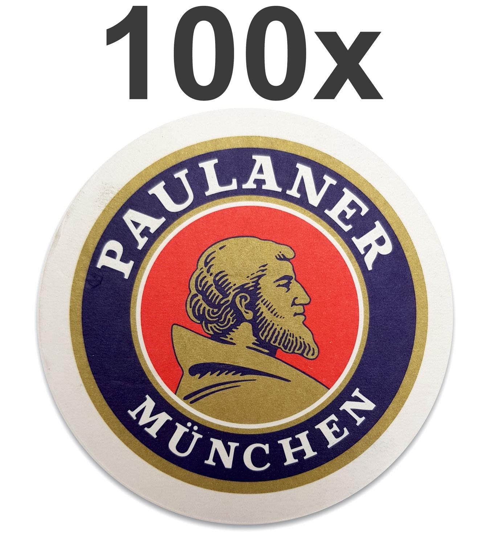 Paulaner München Bierdeckel Untersetzer Bierfilz - 100er Packung