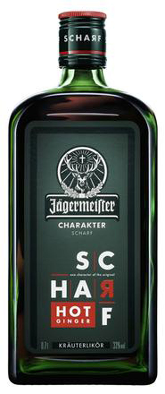 Jägermeister Kräuterlikör Hot Ginger Charakter Scharf 0,7l (33% Vol)- [Enthält Sulfite]