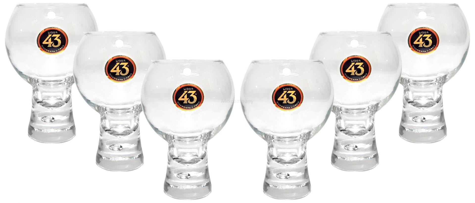 Licor 43 Quarenta Y Tres Gläser 4cl geeicht - 6 Stück Likör Liquor 43er