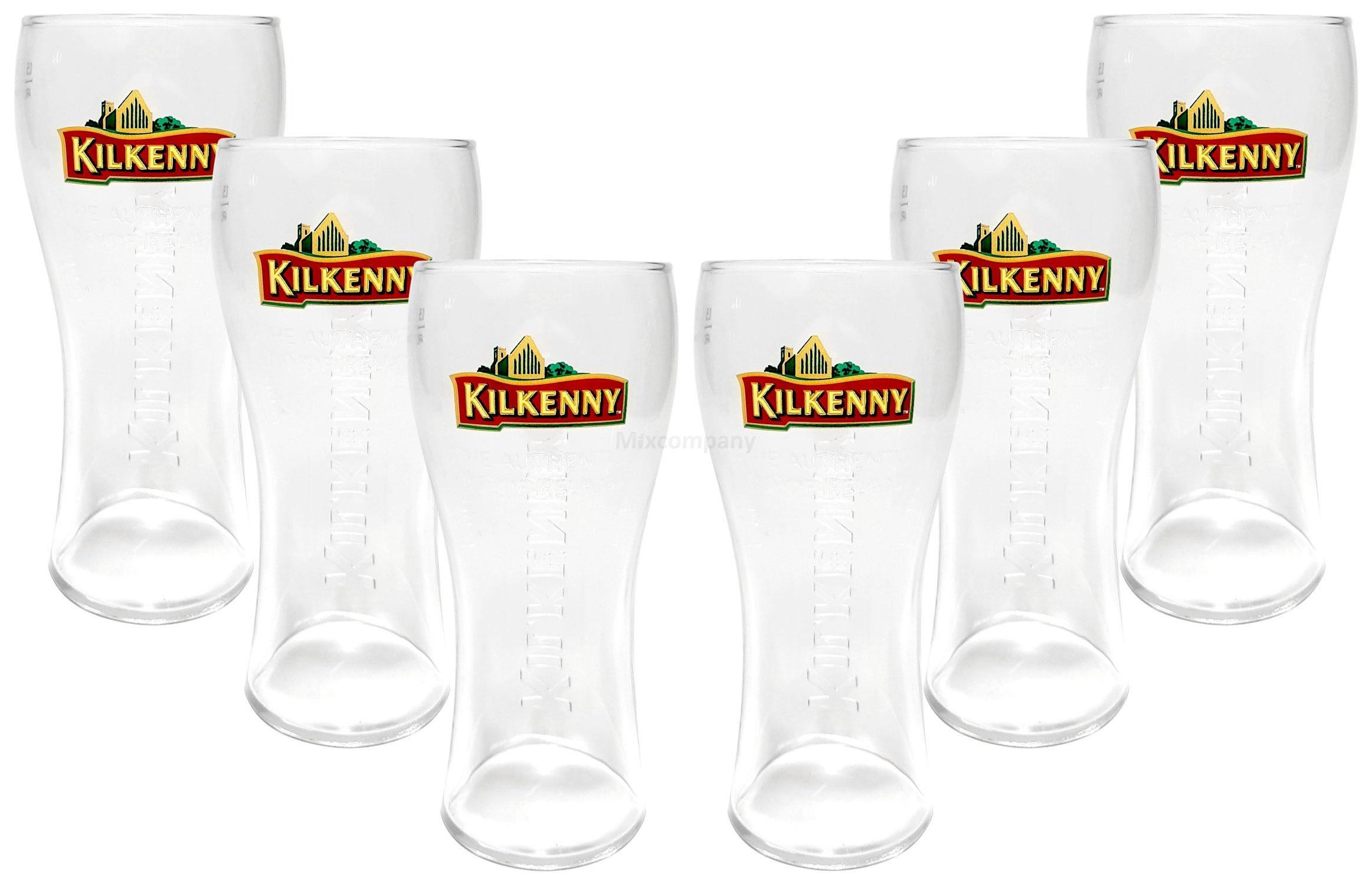 Kilkenny Bierglas Glas Gläser-Set - 6x Biergläser