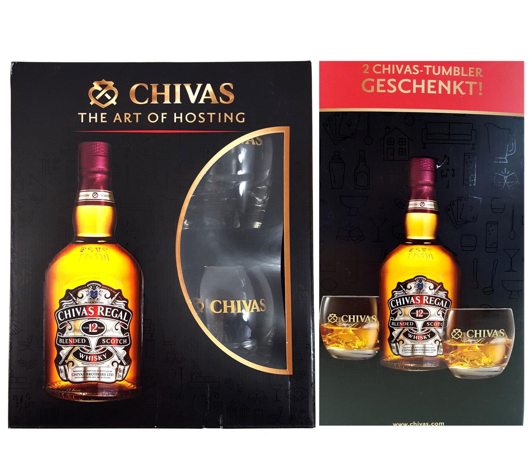 Chivas Blended Scotch Whisky 0,7l 700ml (40% Vol) + 2x Tumbler