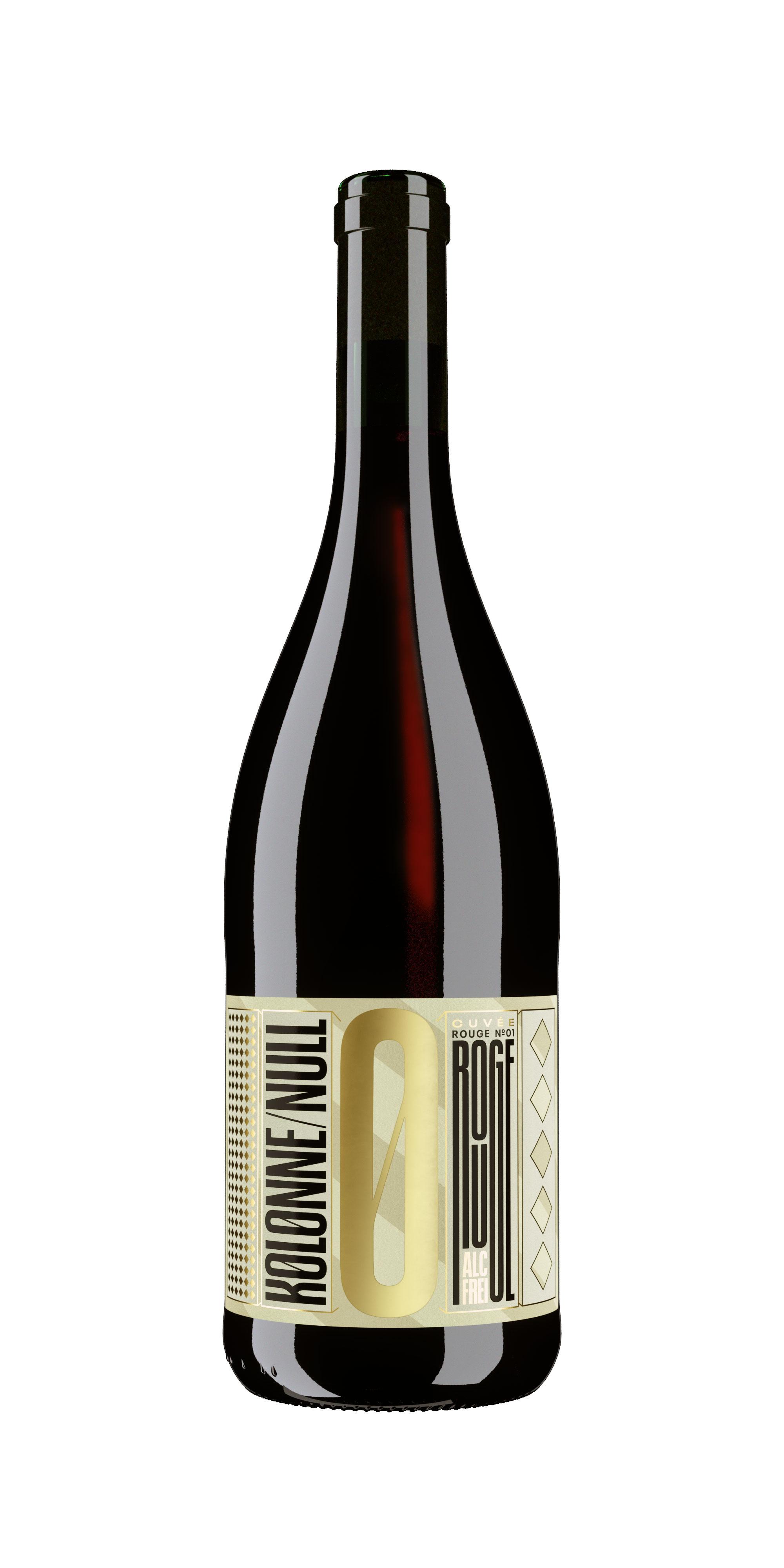 Kolonne Null Rouge Alkoholfreier Rouge Cuvee N°2 Rotwein mit Korken 0,75L