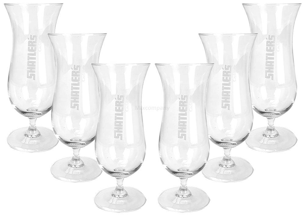 Shatlers Cocktailgläser - 6er Set Glas / Gläser / Hurricane Trinkgläser / Cocktailglas / Longdrinkgläser
