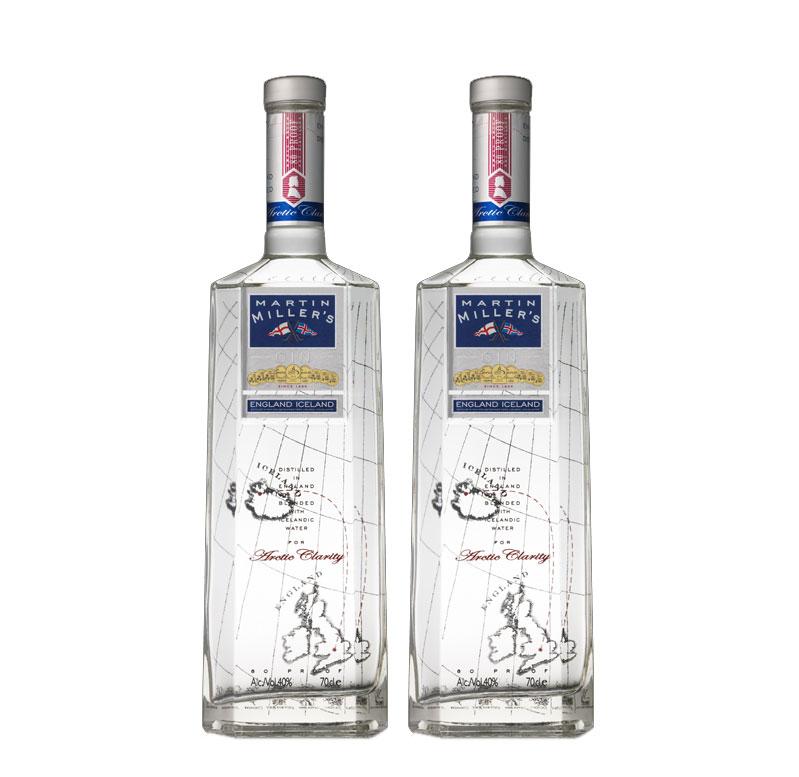 Martin Miller 2er Set Original Gin 2x 0,7L (40% Vol) England Iceland Gin - [Enthält Sulfite]