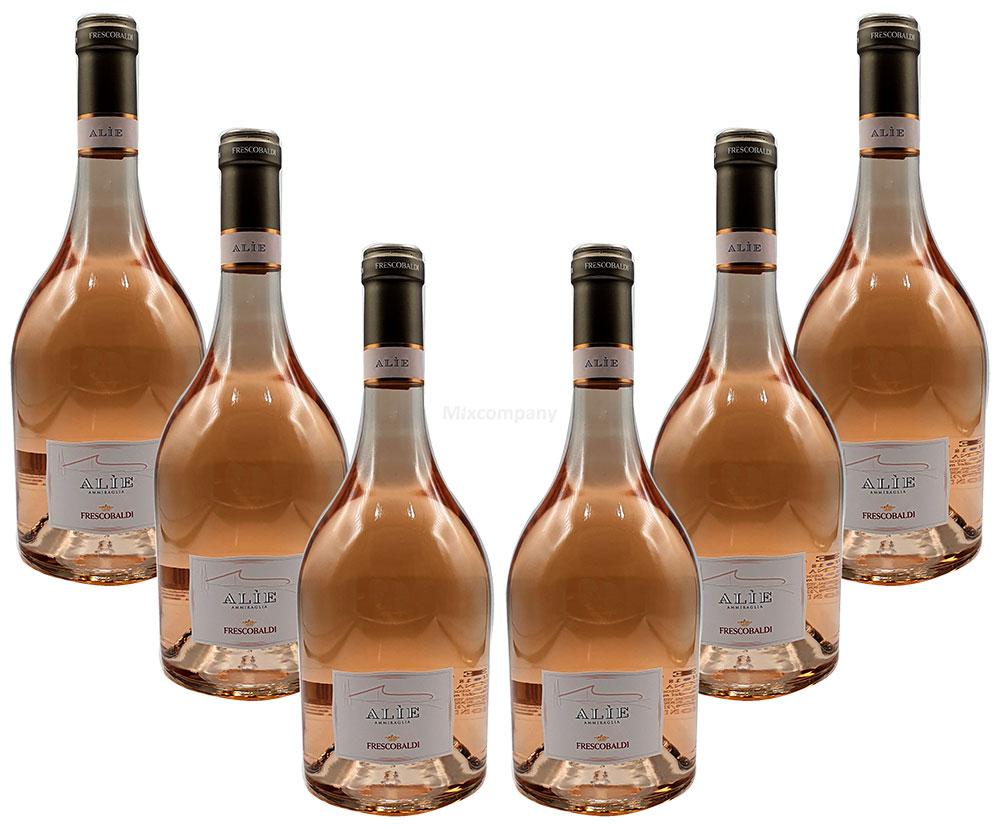 Rose Wein Set - 6x Alie Frescobaldi Rosé 750ml (12,5% Vol)- [Enthält Sulfite]