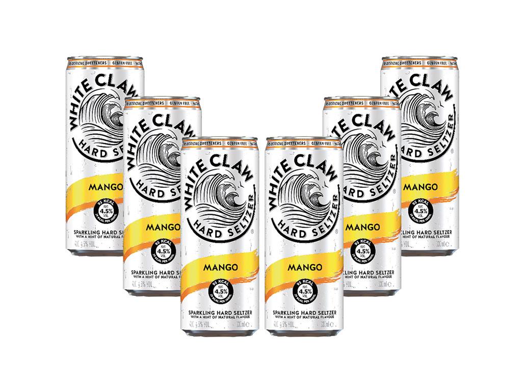White Claw Mango 6er Set je 330ml (4,5% Vol) ready to drink / Longdrink sparkling hard seltzer - [Enthält Sulfite]