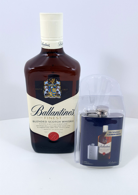 Ballantines Finest Blended Scotch Whisky 0,7l 700ml (40% Vol) + Ballantines Flachmann