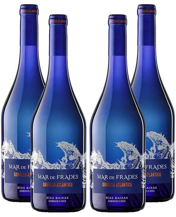 Mar de Frades 4er Set Godello Atlantico 0,75L (13% Vol) 4x Weißwein Rebsorte: 100% Godello- [Enthält Sulfite]