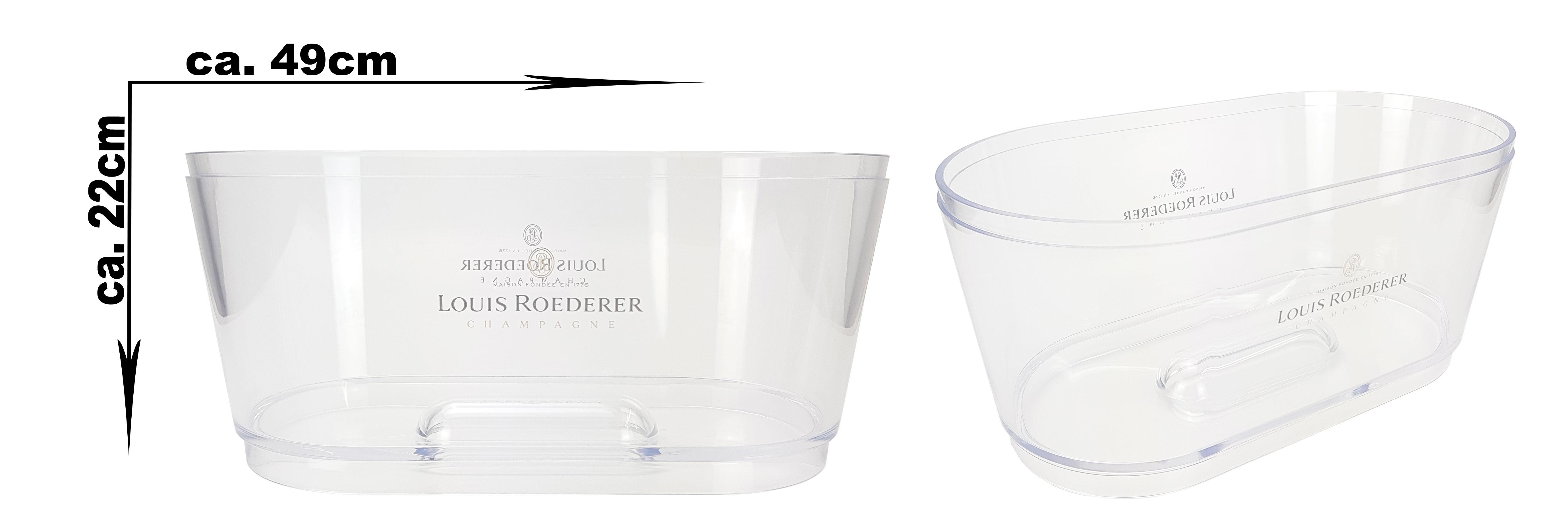 Louis Roederer Champagner Kühler Flaschenkühler Eiskühler Getränkekühler Bar transparent - ca. 49x22cm
