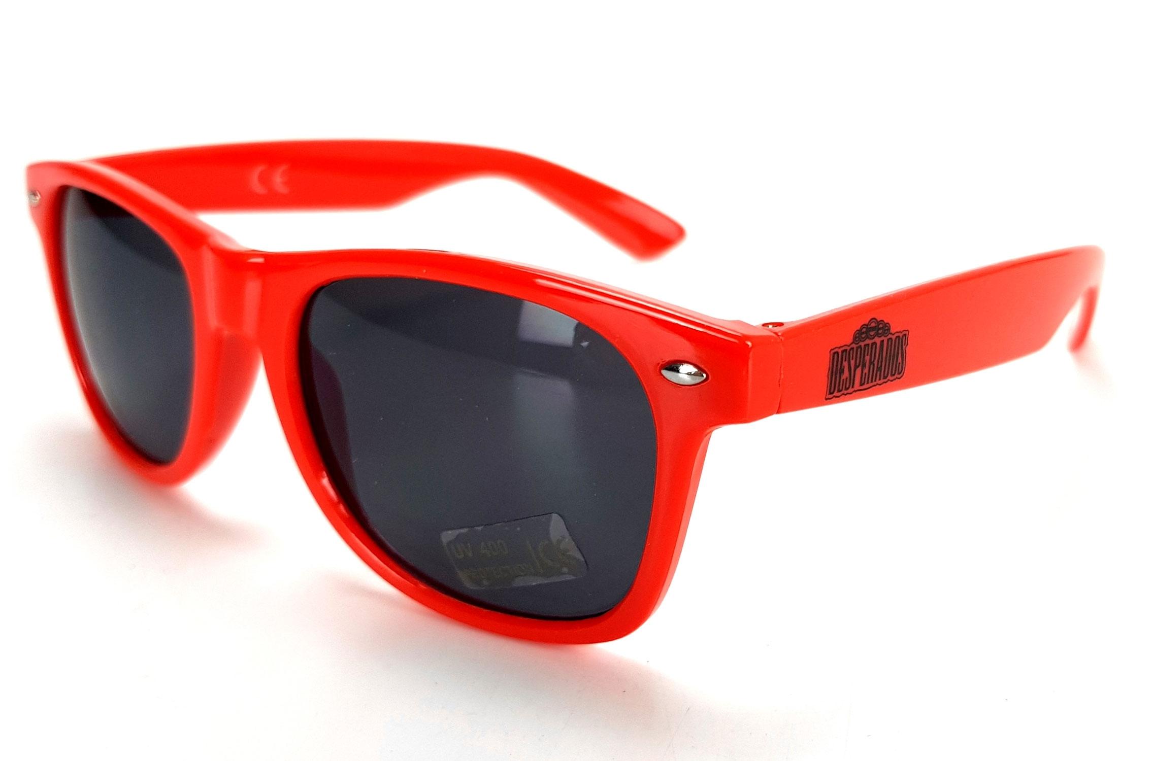 Desperados Sonnenbrille Nerd Party Brille rot mit UV 400 Schutz
