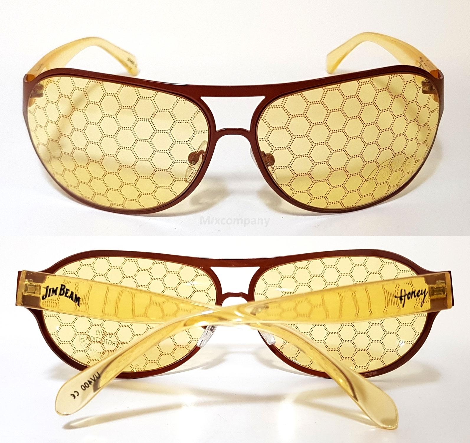Jim Beam Honey Waben Brille / Sonnenbrille / Honigwaben Partybrille