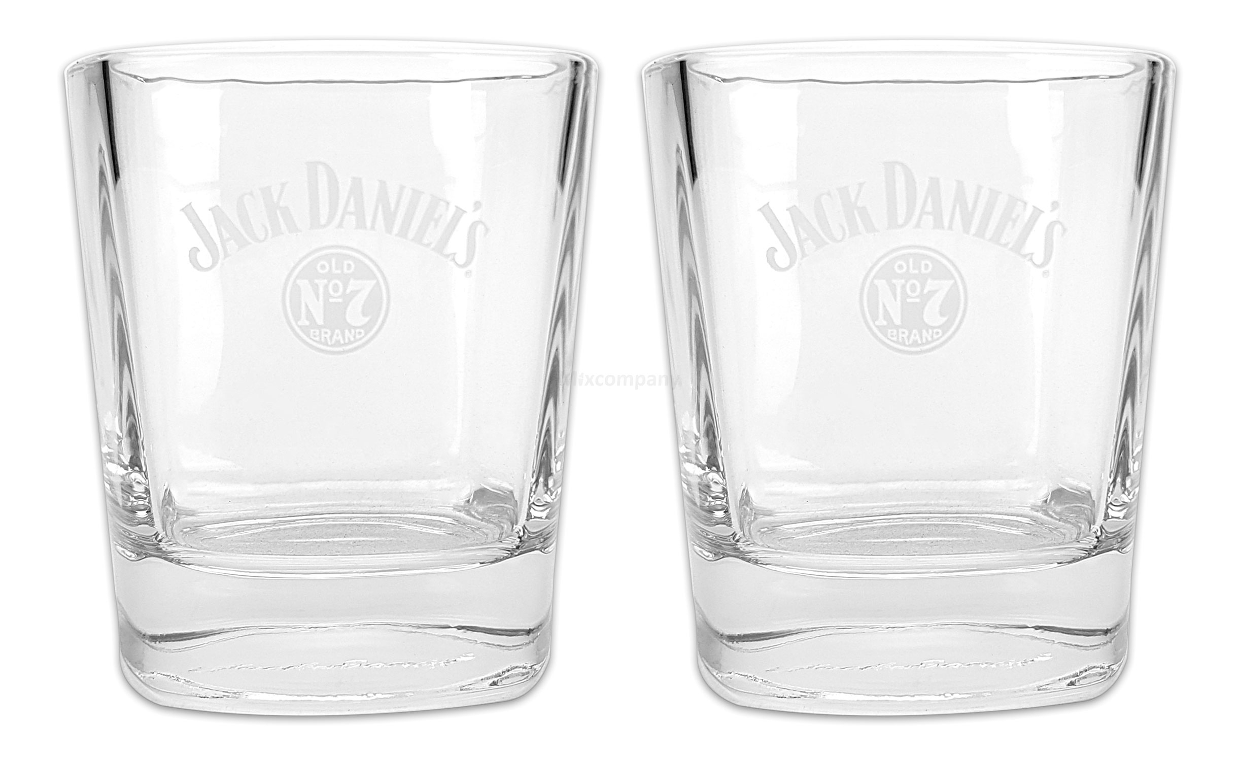 Jack Daniels Old no 7 Whiskey Tumbler Glas Gläser Set - 2x Tumbler
