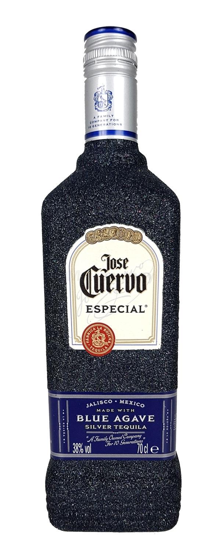 Jose Cuervo Tequila Silver Especial 0,7l 700ml (38% Vol) Bling Bling Glitzerflasche in schwarz -[Enthält Sulfite]