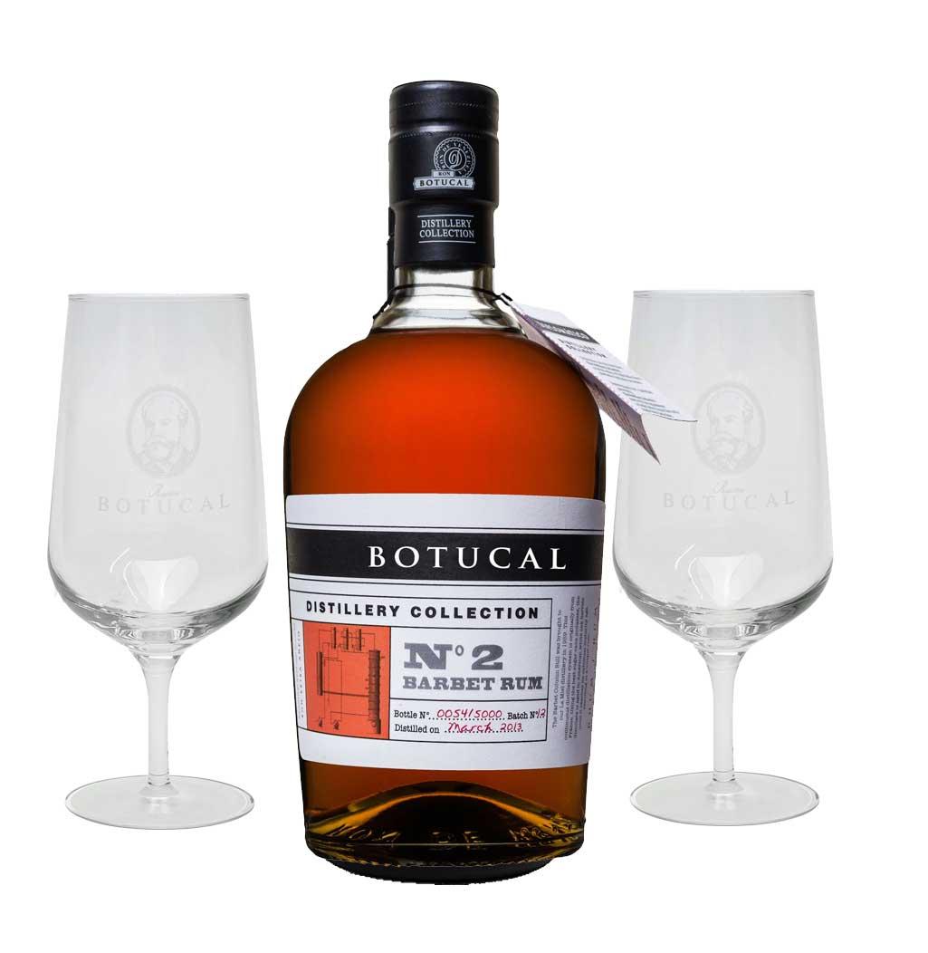 Botucal No2 Barbet Rum Rhum 0,70l (47% Vol) exklusive Sonderausgabe special limited edition distillery collection + 2 Nosing Gläser tasting Glas Set- [Enthält Sulfite]
