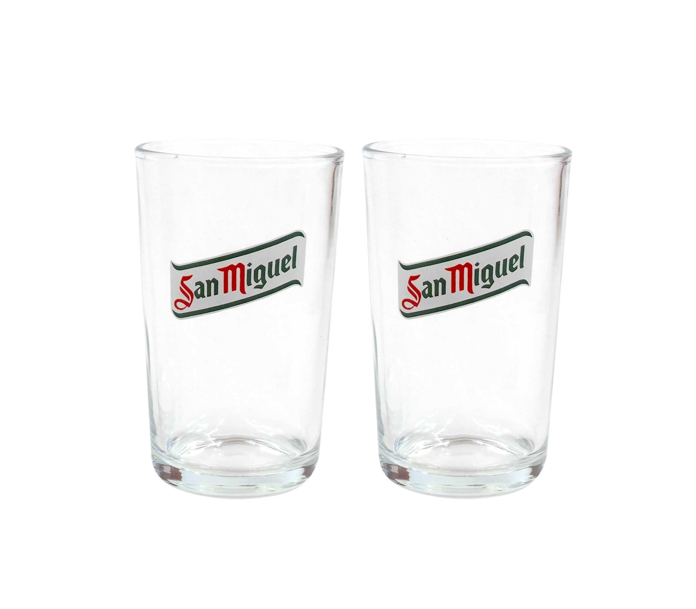 San Miguel GLAS BIER 2 X San Miguel Gläser CERVEZA Biergläser 20 cl