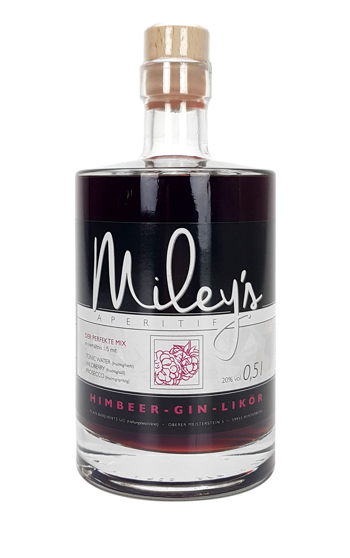 Mileys Himbeer Wild Berry Himbeer-Gin-Likör 0,5l (20% Vol)- [Enthält Sulfite]
