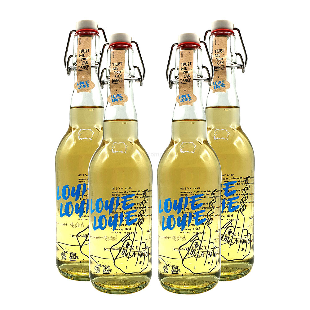Louie Louie Cuvee Weißwein - 4er Set Louie Weißwein - Trust me you can dance - 4x0,5l (12,5% Vol) [Enthält Sulfite]
