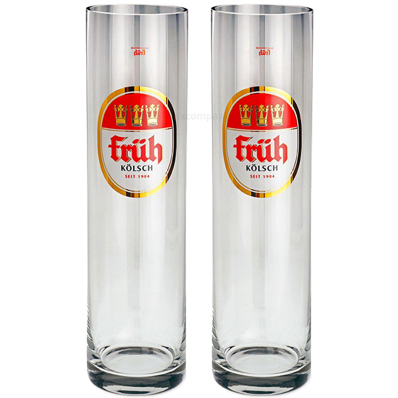 Früh Kölsch Biergläser / Gläser / Stangen Set - 2x 0,2l